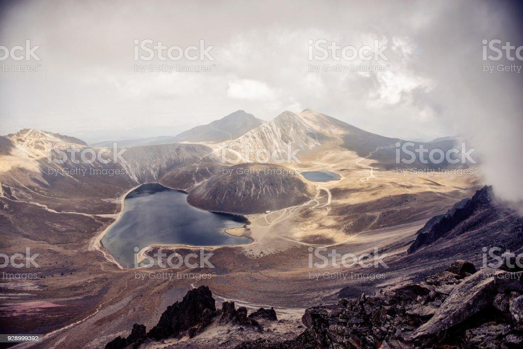 View at Nevado de Toluca stock photo