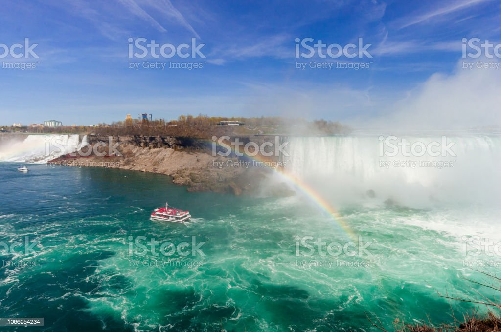 View At Niagara Falls From Canadian Side At Summer Time Stock Photo Download Image Now Istock