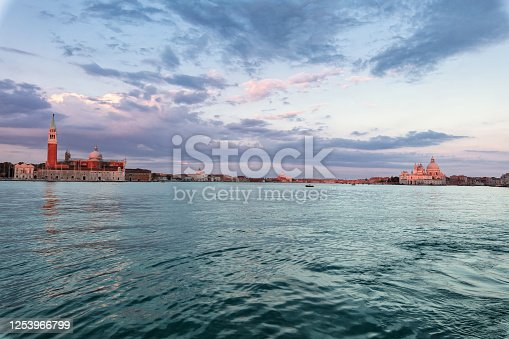 The church of San Giorgio Maggiore on Isola San Giorgio at morning, Venice