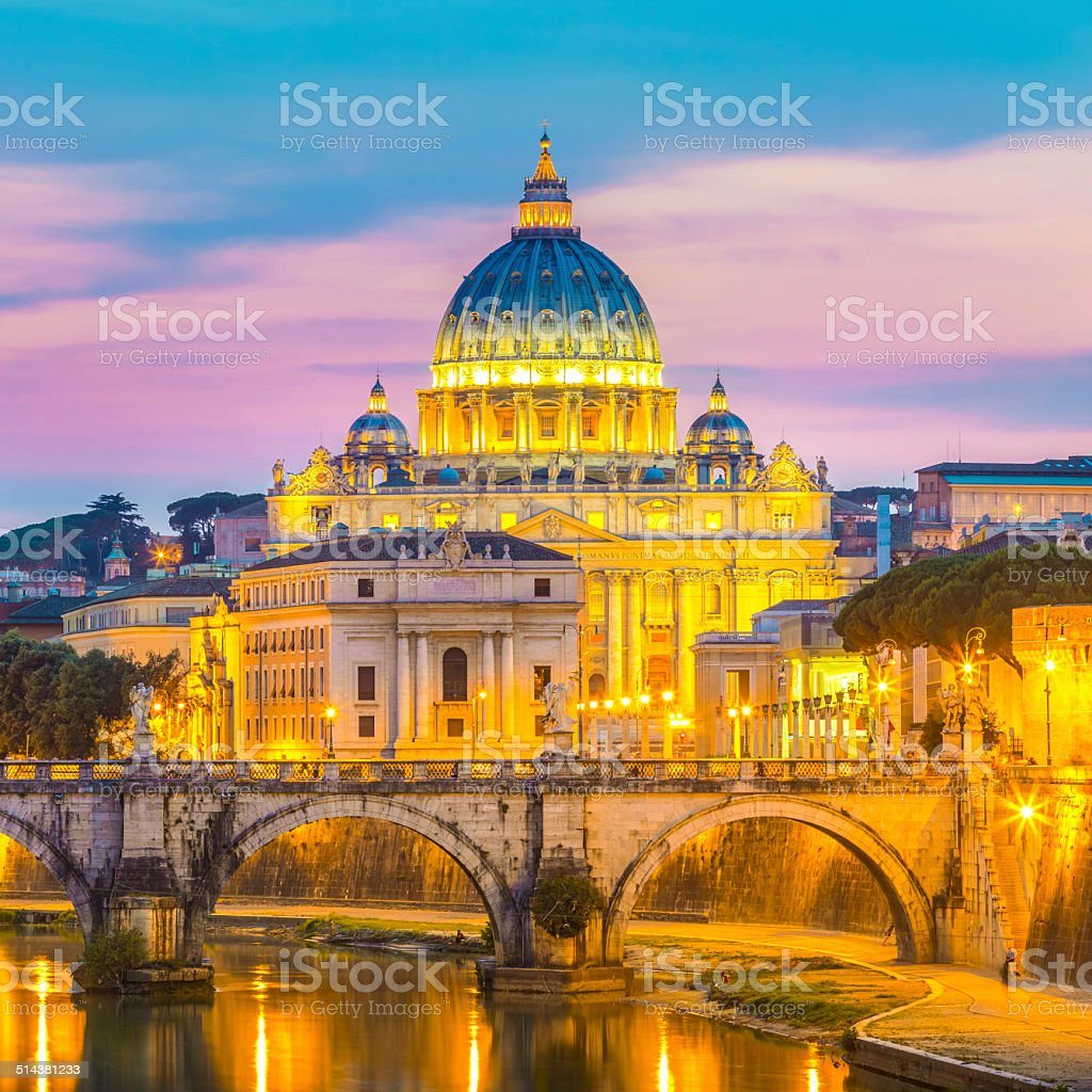 Blick auf St. Peter-Kathedrale in Rom, Italien Lizenzfreies stock-foto