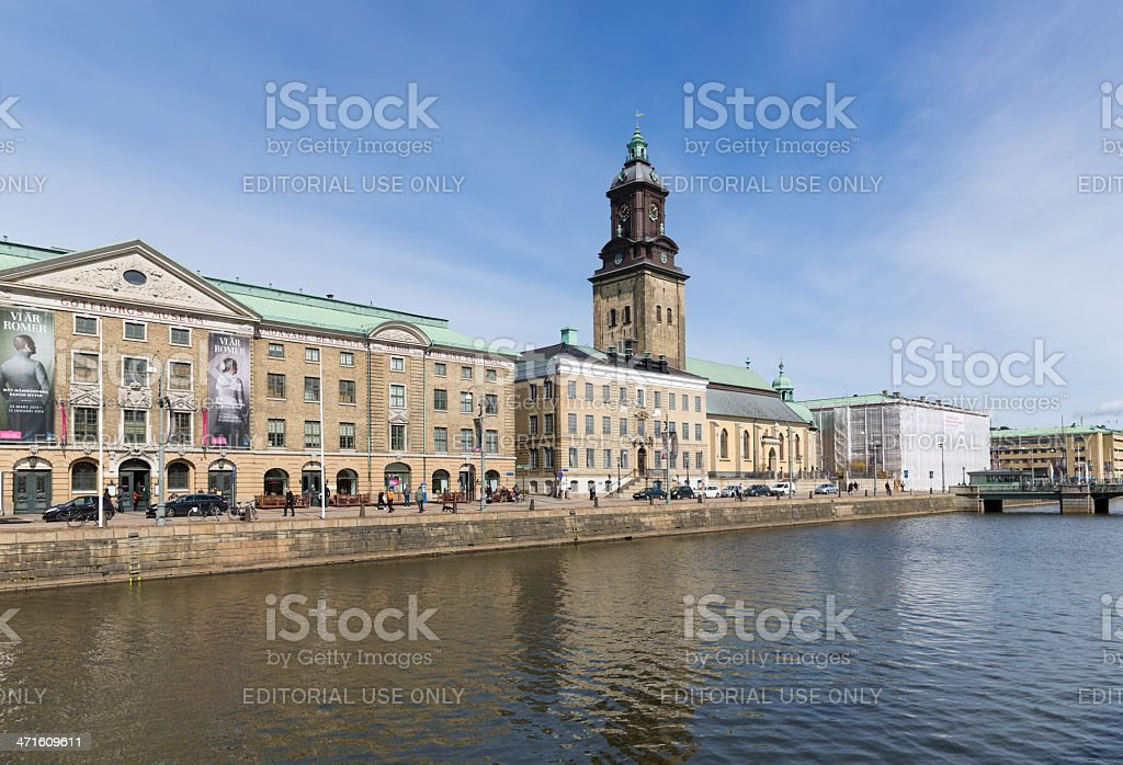 View at the Big Harbor Canal of Goteborg, Sweden stock photo