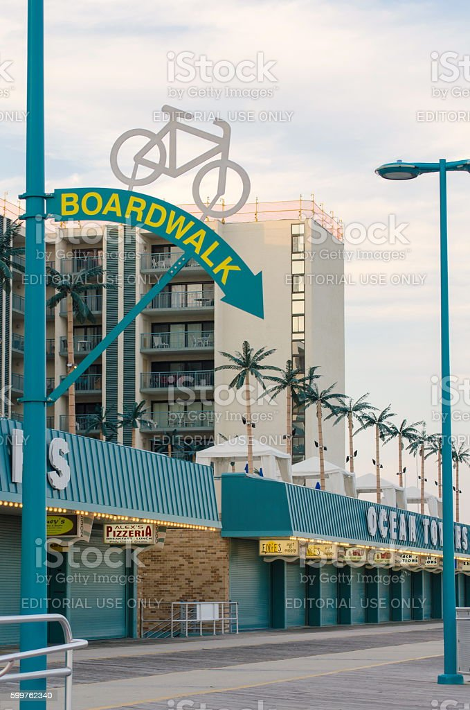 View at the boardwalk in Wildwood stock photo