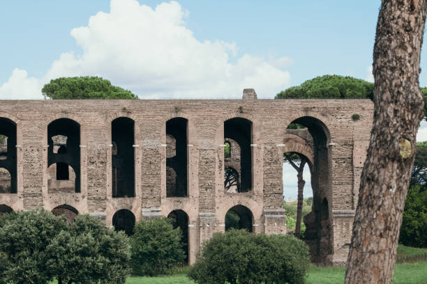 View At The Details Of Roman Forum In Rome Italy Stock Photo