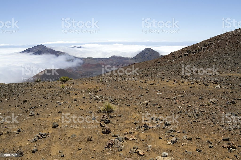 View at the Haleakala National Park royalty-free stock photo