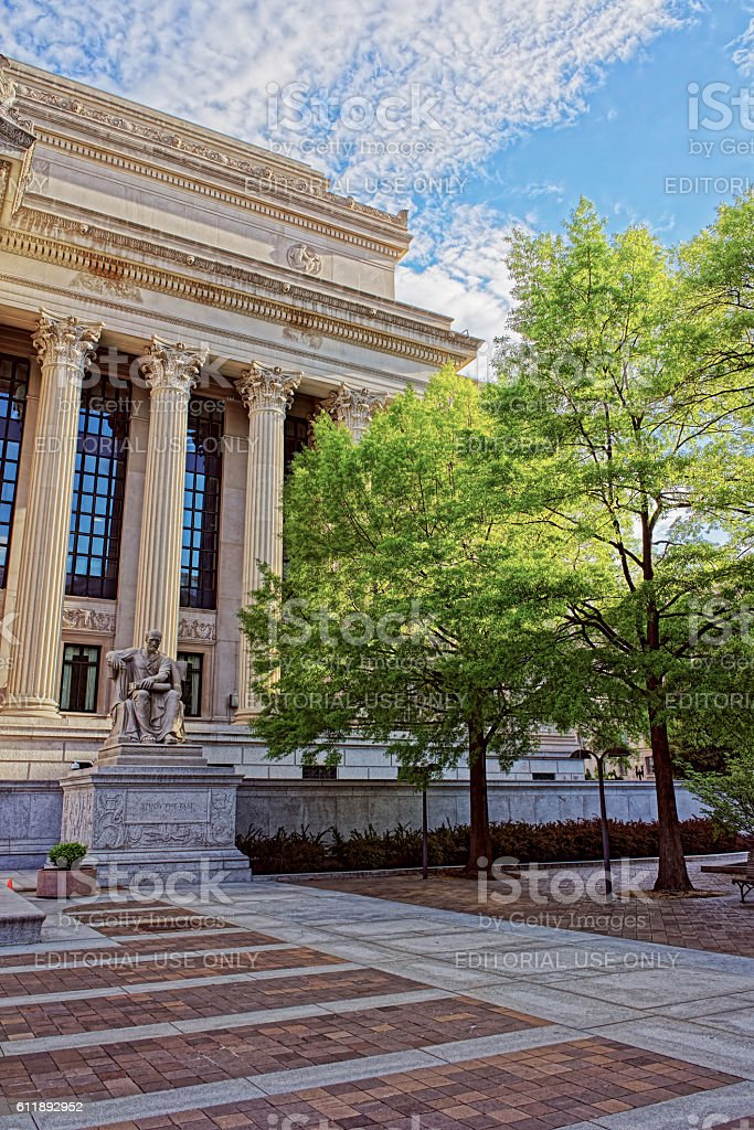 View at the National Archives Building in Washington DC stock photo