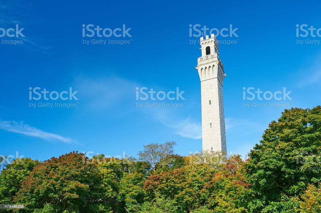 View at the Pilgrim Monument in Provincetown stock photo