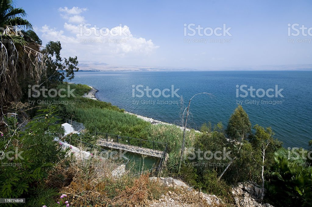 view at the sea of galilee royalty-free stock photo