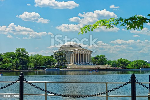 istock View at the Thomas Jefferson Memorial in Washington DC 606013558