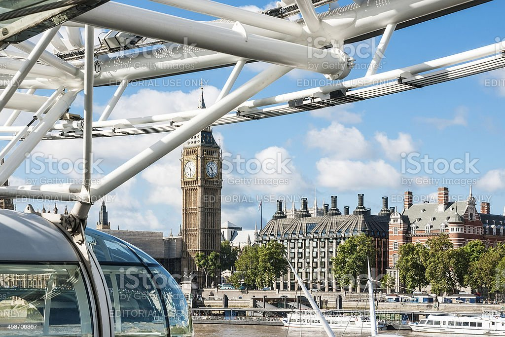 View at Westminster from London Eye capsule royalty-free stock photo