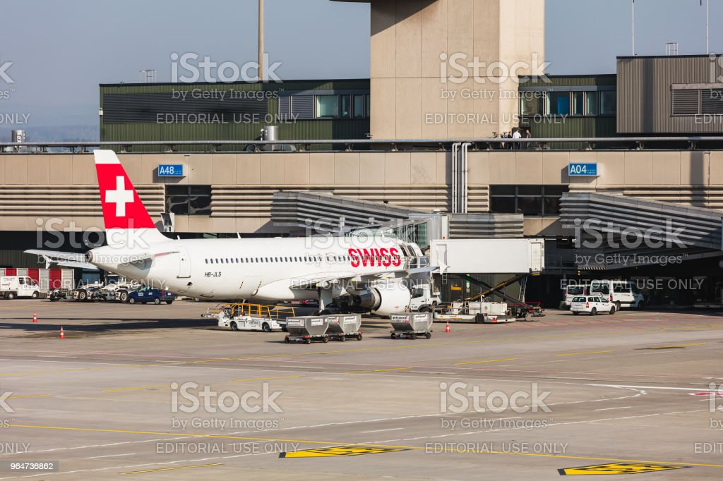 View at Zurich Airport royalty-free stock photo