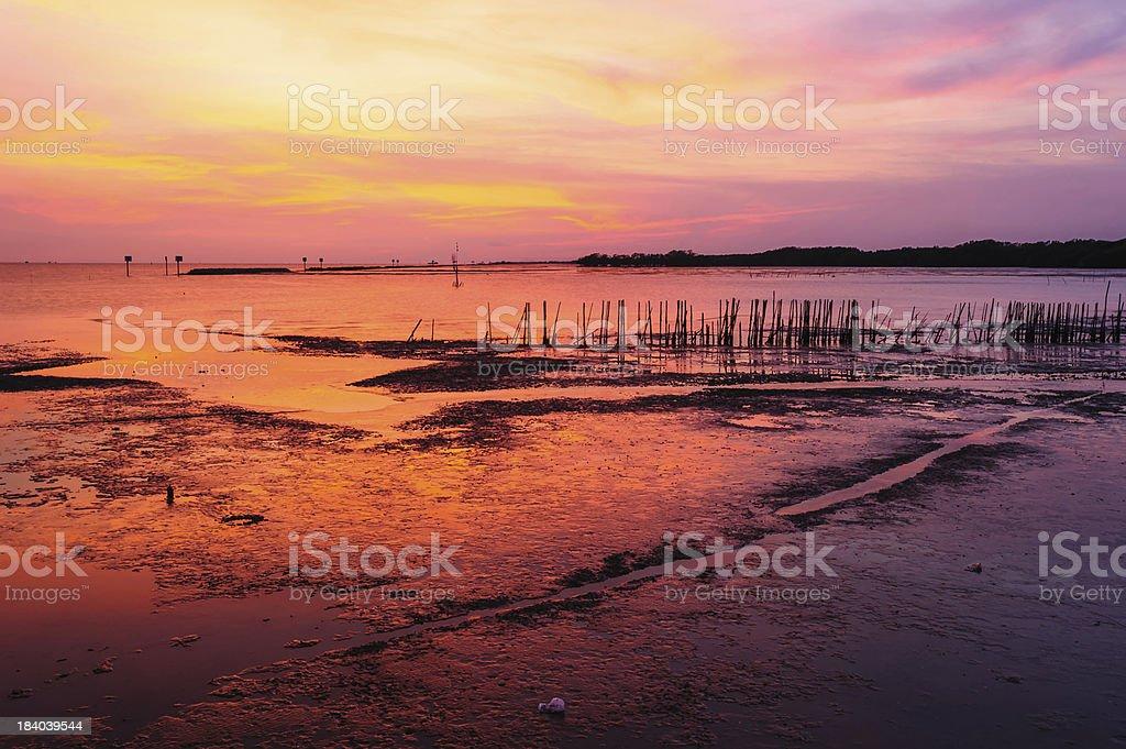 View beautiful  Sunset beaches royalty-free stock photo