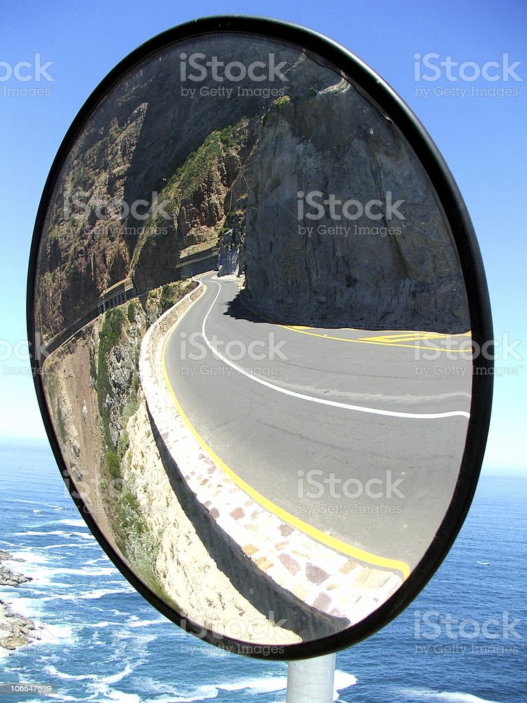 View behind stock photo