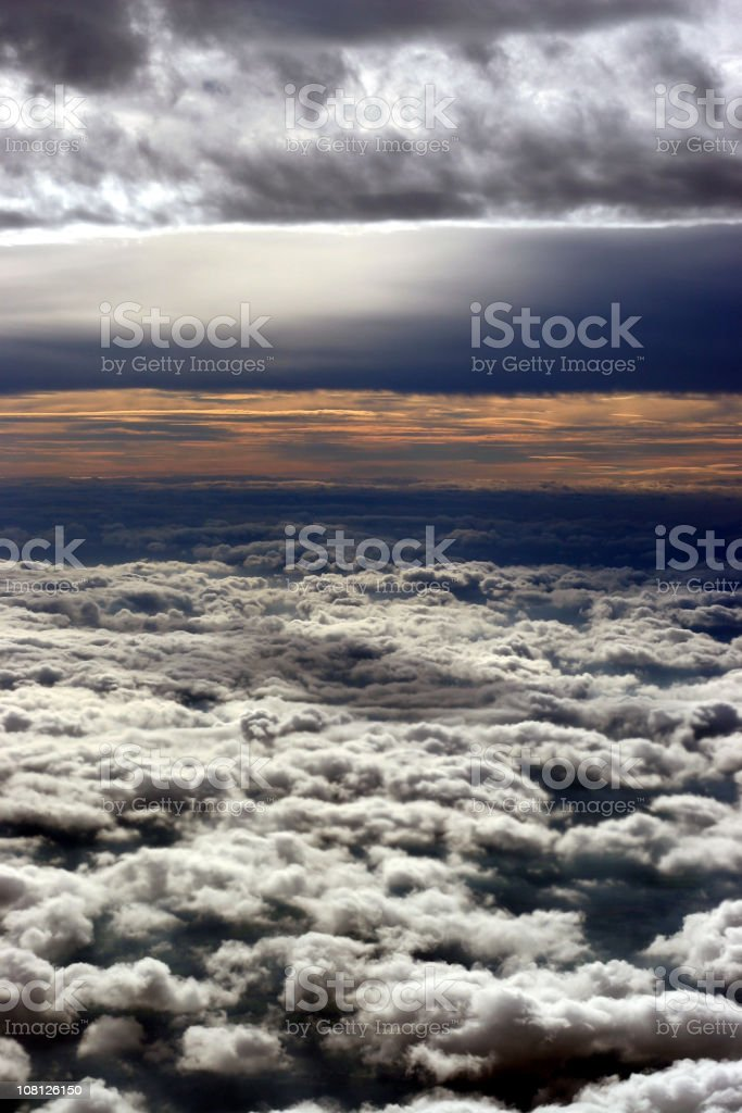 View Between Storm Cloud Levels royalty-free stock photo