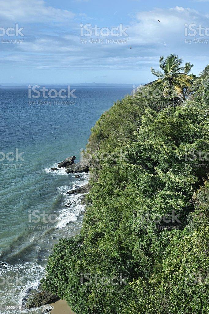 HDR View, bridge Cayacoa resort, Samana, Playa Los Cocos stock photo