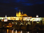 View by night of Prague