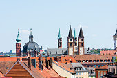 View Cathedral and Marien Chapel of Wurzburg, Germany