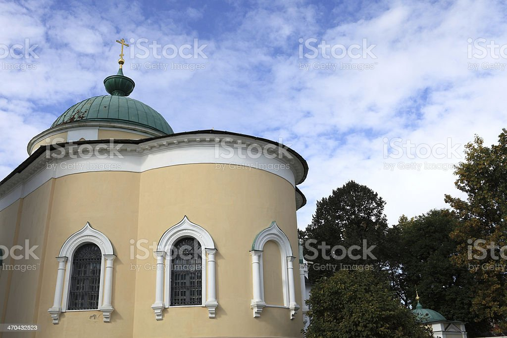 View church of Yaroslavl miracle workers stock photo