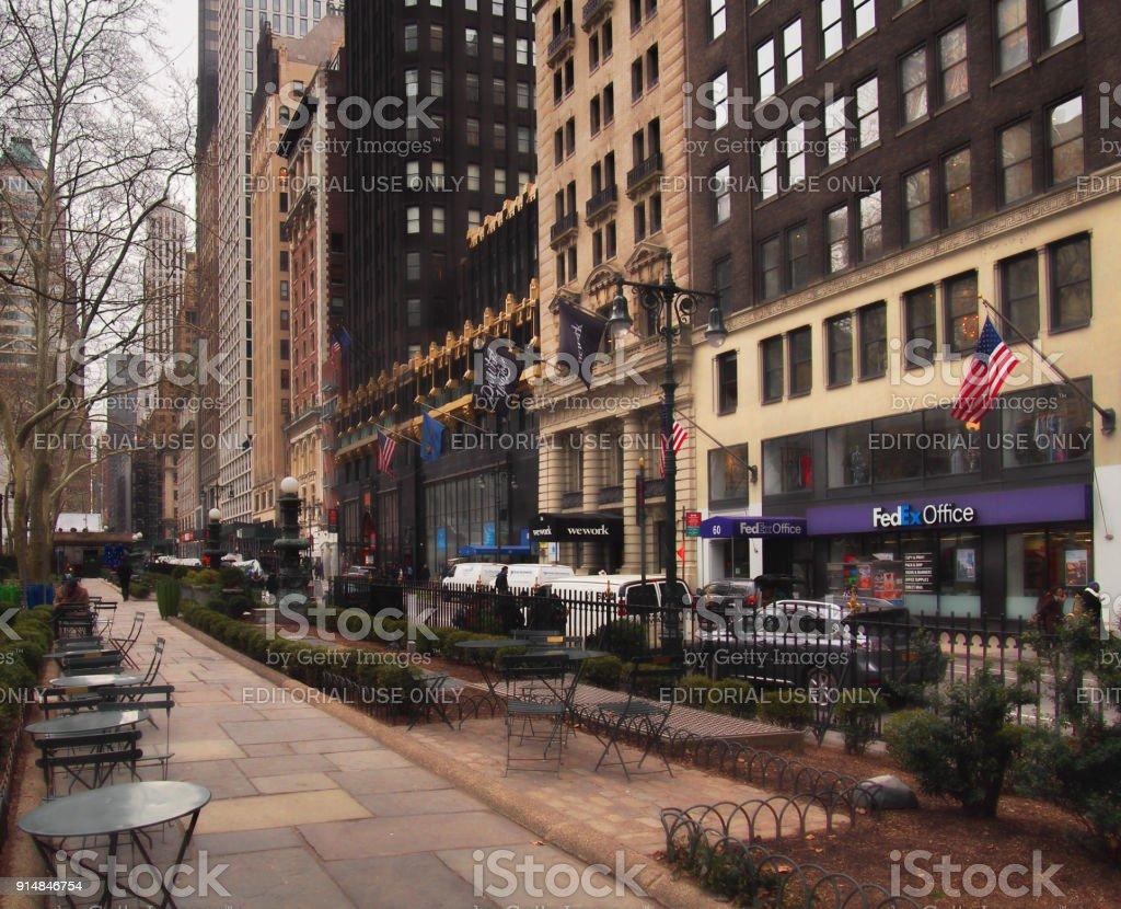 View down 40th Street stock photo