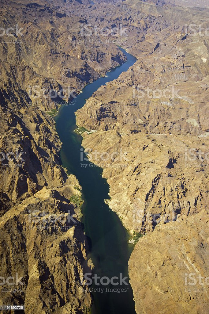 View down a Grand canyon tributary royalty-free stock photo