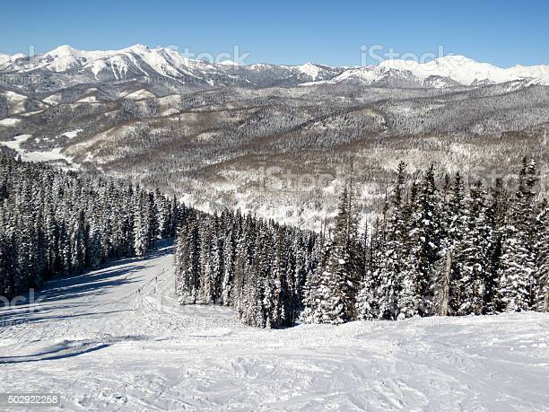 Photo of View down a scenic ski run at Purgatory