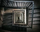 Spiral Staircase inside Triumph de france, Paris, France