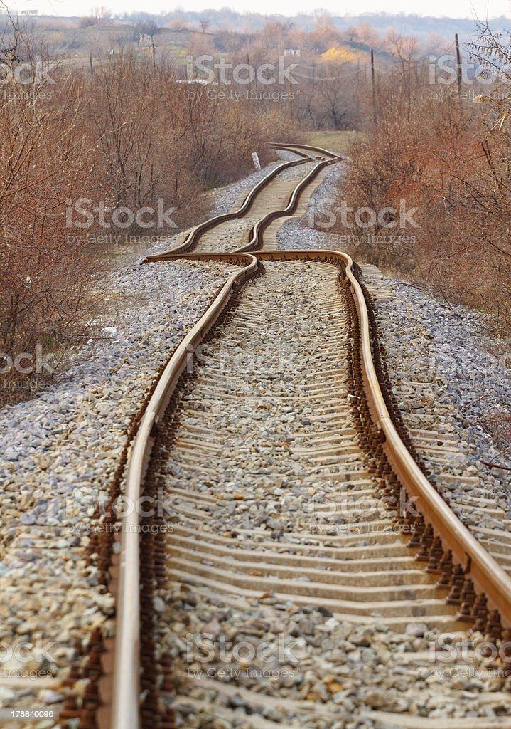 Detail der Eisenbahn Gleise – Foto