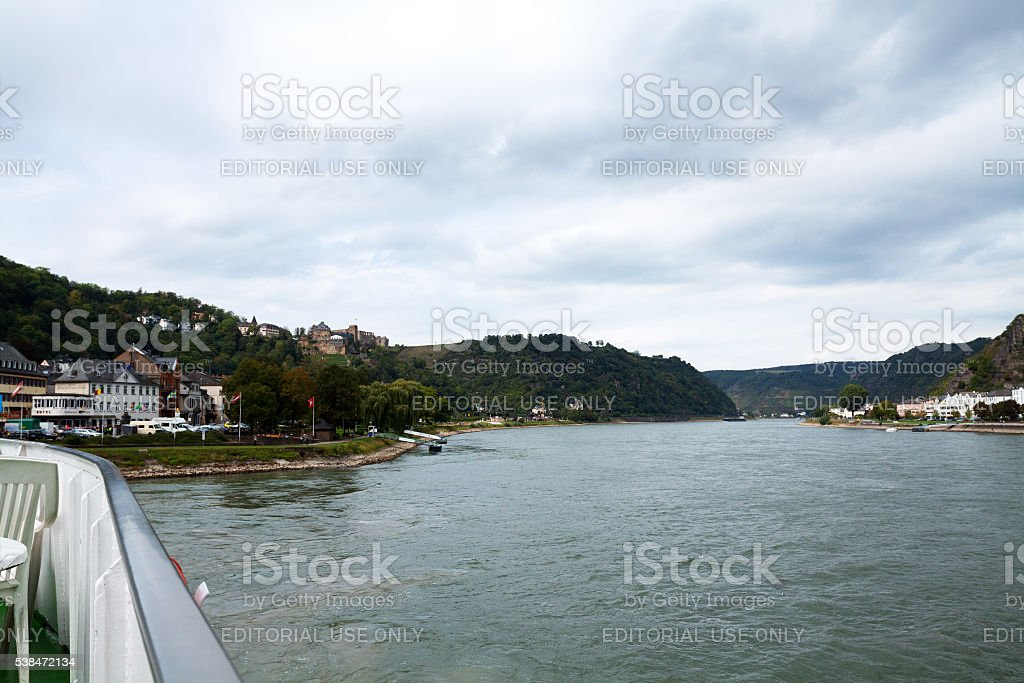 View downstream Rhine stock photo