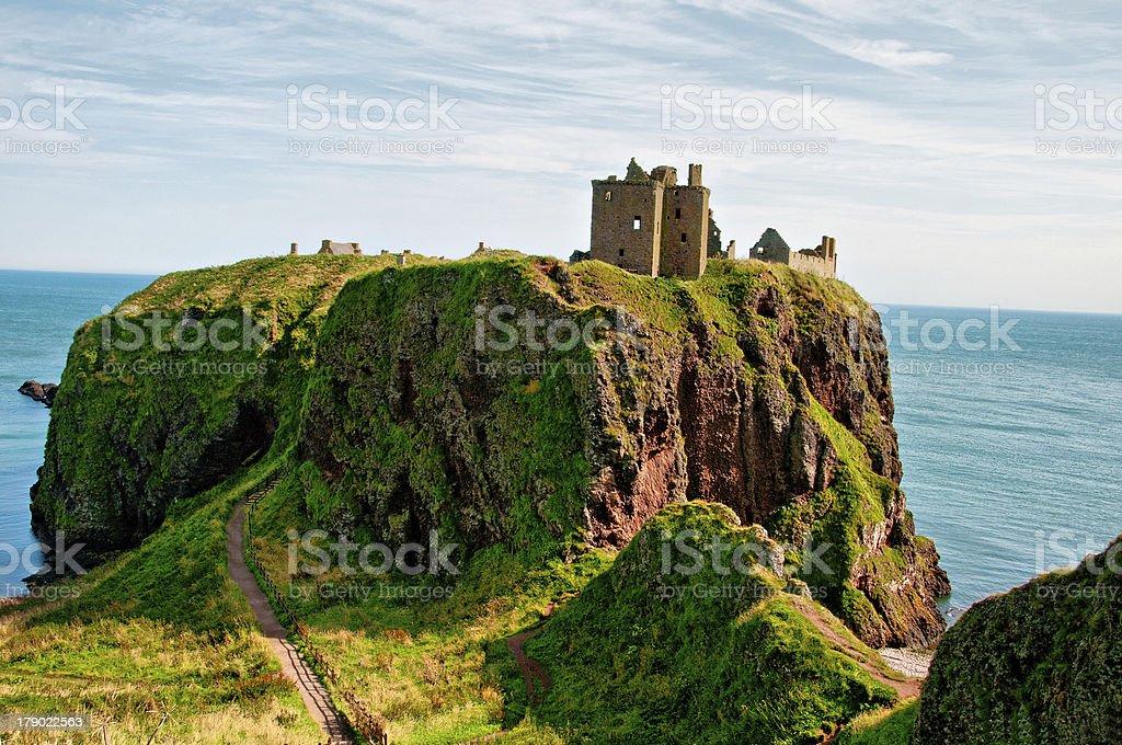 View Dunnottar Castle stock photo