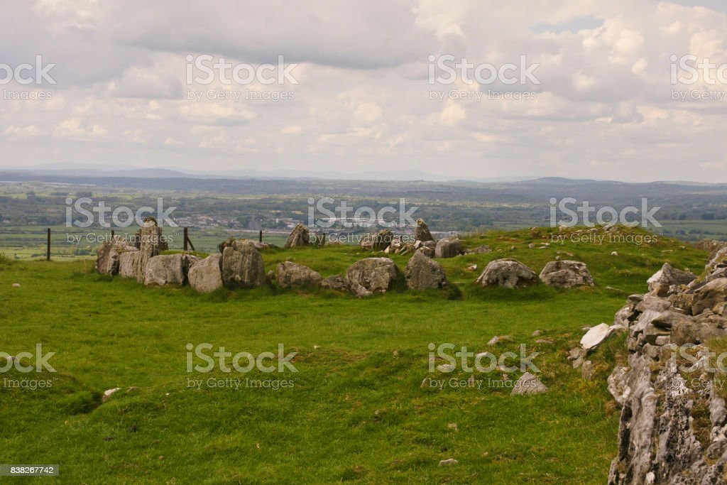 View East from Loughcrew stock photo