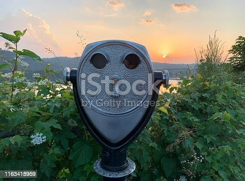 Looking at sunrise over Allegheny River