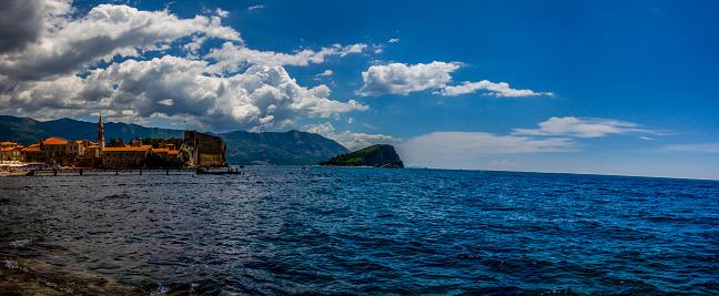 The beach of Kotor bay