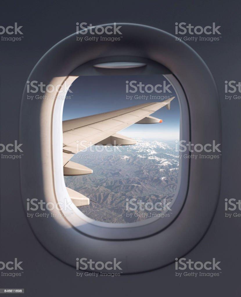 Blick aus einem Flugzeug – Foto