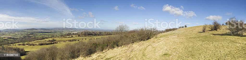 View from a hill. royalty-free stock photo