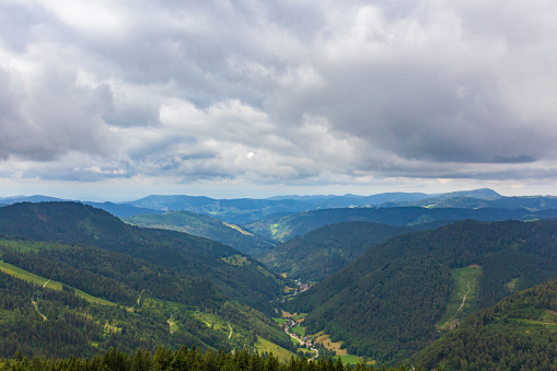 View from a observation deck at the Feldberg mountain over the Black