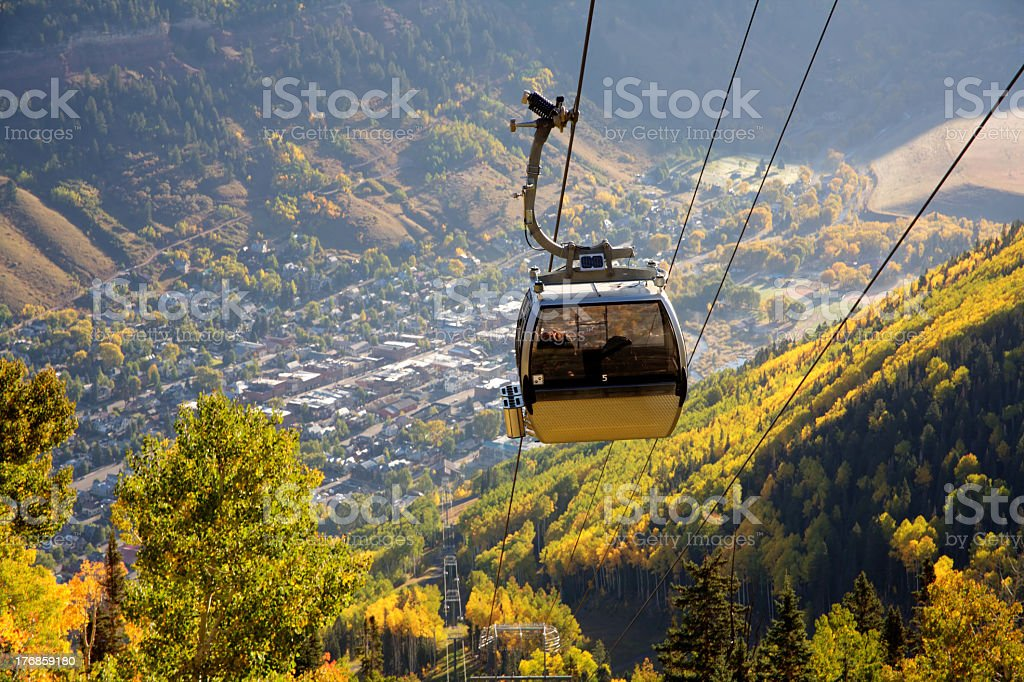 A view from a Telluride Gondola stock photo