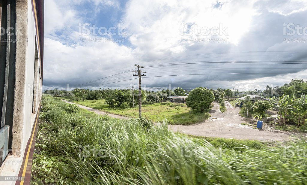 View From A Train Window royalty-free stock photo