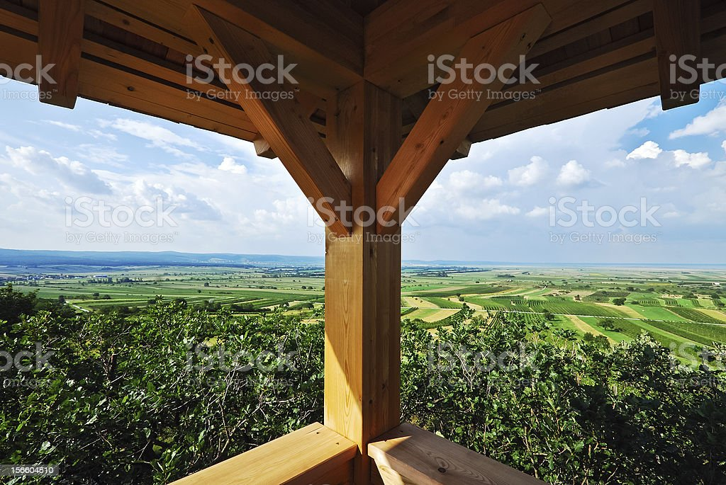 View from a wooden watchtower royalty-free stock photo