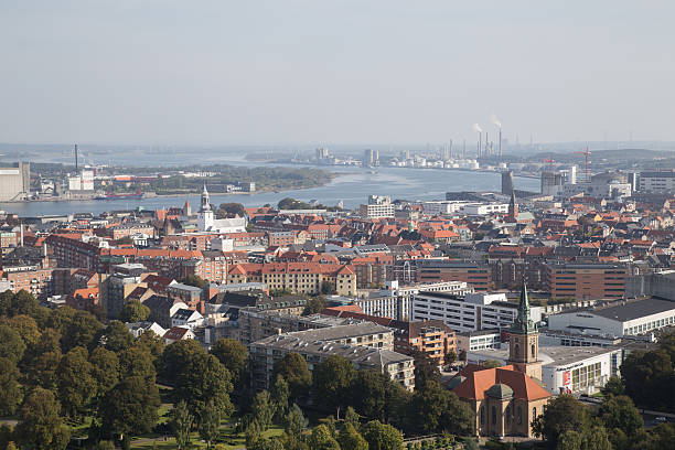 View from Aalborg Tower stock photo