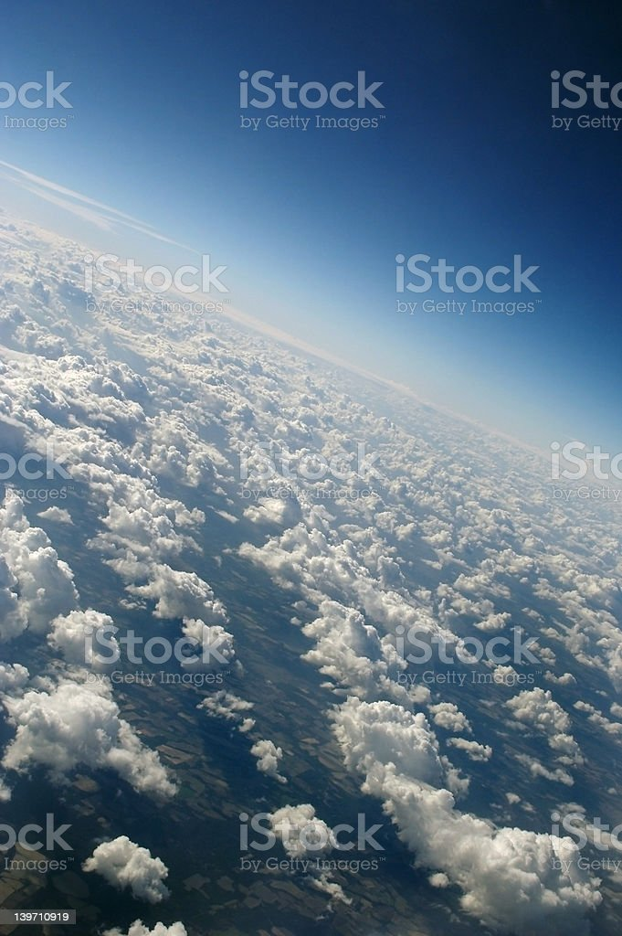 View From Above, In Clouds royalty-free stock photo