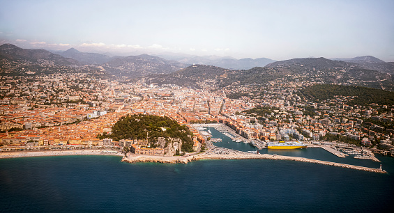 view from above nice city french riviera