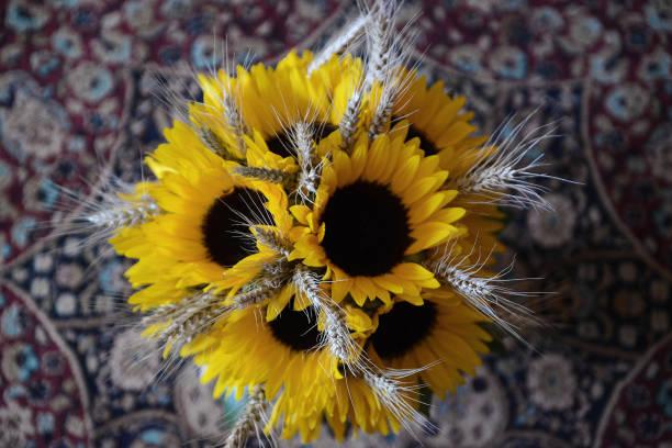 Brautstrauss Sonnenblumen Bilder Und Stockfotos Istock