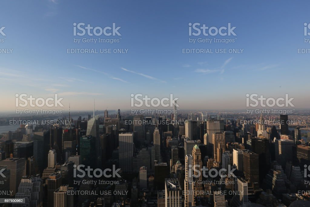 View from above on New York. America, New York City - May 13, 2017 stock photo