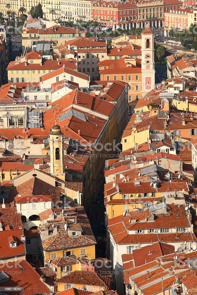View from above on the old city of Nice royalty-free stock photo