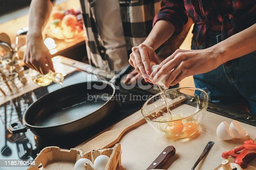 istock View from above picture of broken egg flows into a bowl 1185760846