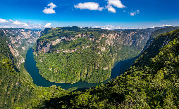 View from above the Sumidero Canyon - Chiapas, Mexico stock photo