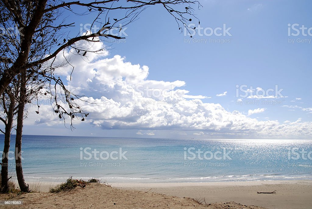 View from above to the open sea royalty-free stock photo