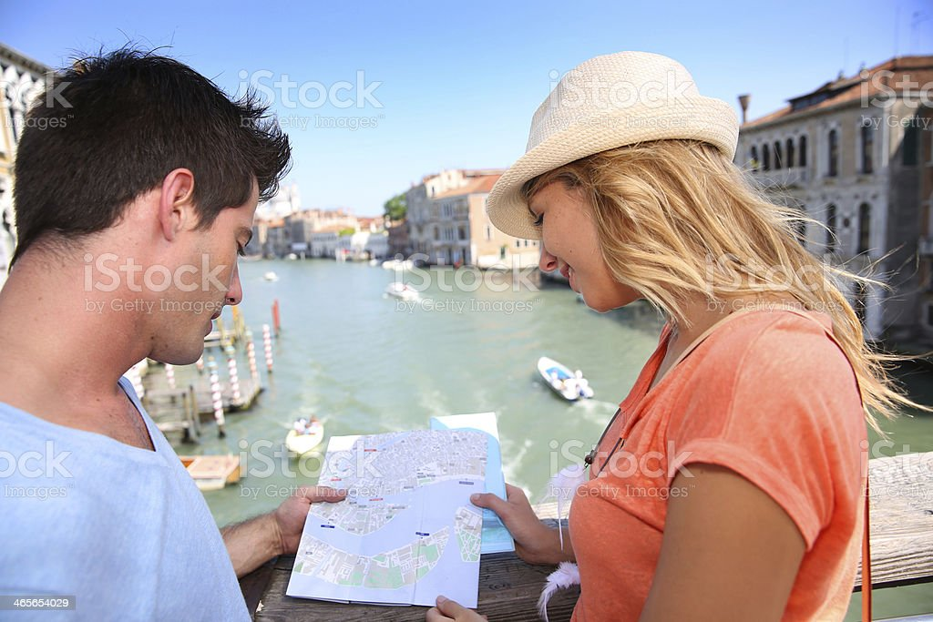 View from Academia Brdge in Venice royalty-free stock photo