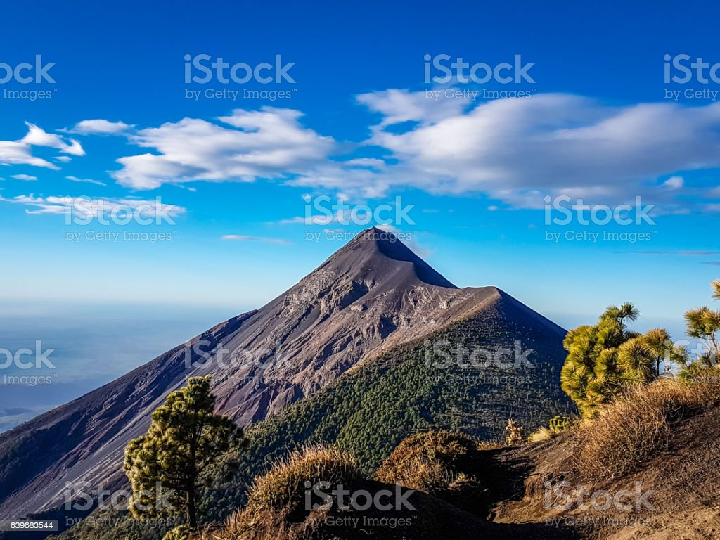 View from Acatenango volcano ,Guatemala stock photo