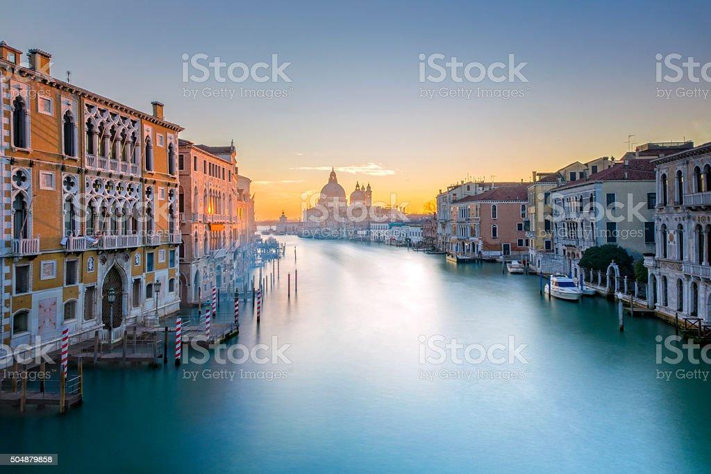 Blick von der Accademia-Brücke am Canal Grande in Venedig – Foto