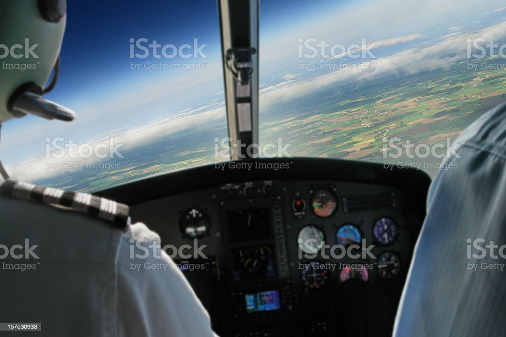 View From Airplane Cabin During Flight royalty-free stock photo